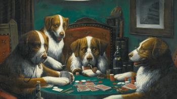 """La historia detrás de las pinturas icónicas de """"Dogs Playing Poker"""""""